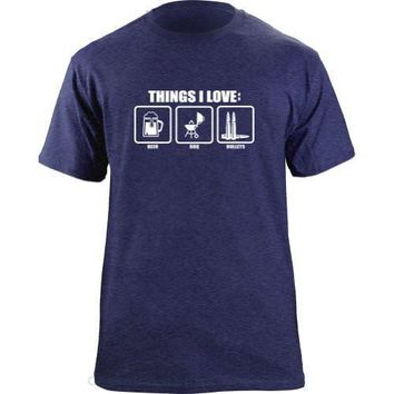 Things I Love Beer BBQ Bullets - Drinking/Grilling Tee