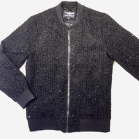 Barabas Black Evening Sequin Bomber