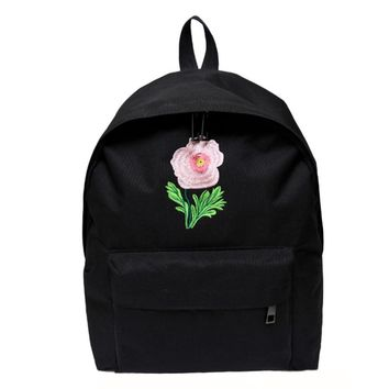 Xiniu fashion women backpack leather school bags Rose Vintage Canvas Backpack Satchel Rucksack Travel School Bag #5M