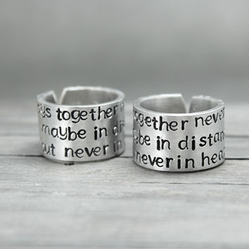 Hand Stamped Friendship Rings