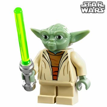 Single Sale STAR WARS Rogue One Jedi Master Yuda Yoda with Lightsaber Darth Vader Model minifig Building Blocks Kids Toys Gifts