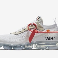 BC KUYOU Nike Off-White Virgil Abloh The 10 Air VaporMax FK Part 2 White  AA3831-100 (NO Codes)