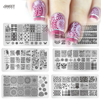 1pcs Hot Fashion Image Design Polish Printing Stamp Template Nail Art Stamping Plates Stainless Steel Manicure Stencils XYJ01-16