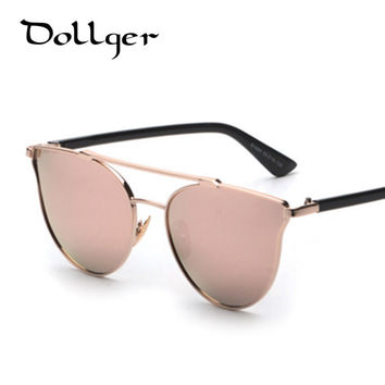 Vintage CAT EYE sunglasses women mirrors glasses men oculos METAL coating sunglass safety sun glasses ANTI-UV 400 S0809
