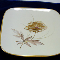 Jaeger & Co Gold Trimmed Square Plate PMR Bavaria Germany Tableware