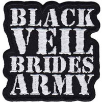 Black Veil Brides Men's Army Embroidered Patch Black