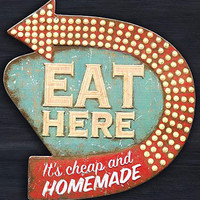 Retro Diner Kitsch Kitchen Wall Art