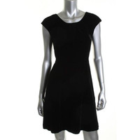 Tommy Hilfiger Womens Velvet Cap Sleeves Party Dress