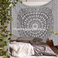 Queen Indian Mandala Hippie Tapestry Wall Hanging Bedding Bedspread Ethnic Throw