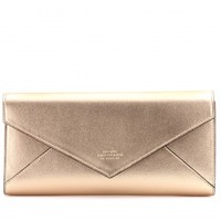 Envelope Evening metallic leather clutch