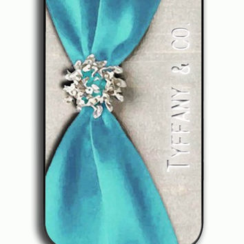 iPhone 4S Case - Hard (PC) Cover with Tiffany Blue Plastic Case Design