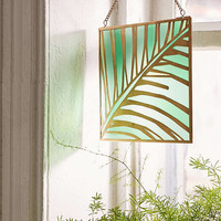 Evony Palm Stained Glass Window Hanging | Urban Outfitters