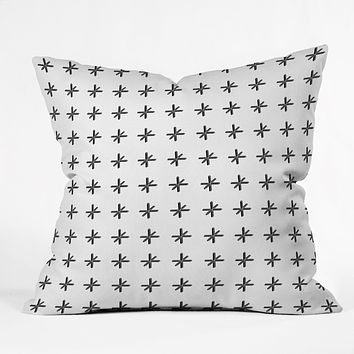 Wesley Bird Cross Out White Throw Pillow
