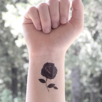 Temporary Tattoo - Rose - Rose Tattoo - Floral Tattoo - Flower Tattoo