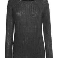 LE3NO Womens Casual Boat Neck Raglan Knit Sweater (CLEARANCE)