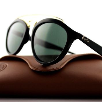 NEW Authentic Ray-Ban GATSBY II Black Green Classic Sunglasses RB 4257 601/71