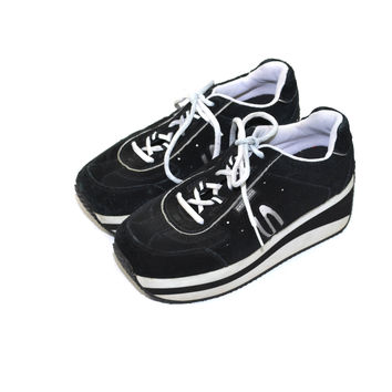 Platform Sneakers Skechers Sneakers Chunky Heel Sneakers Black Skechers Sneakers Black Tennis Shoes
