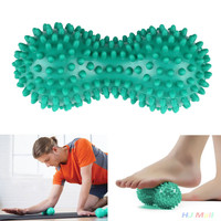 Peanut Shape Spiky Massage Ball PVC Trigger Therapy Stress Relief Massager Fitness Tool