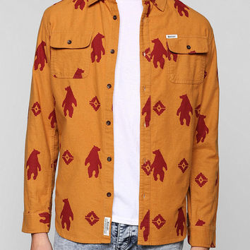 Insight Bear Button-Down Flannel Shirt  - Urban Outfitters