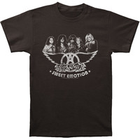 Aerosmith Men's  Sweet Emotion Slim Fit T-shirt Coal
