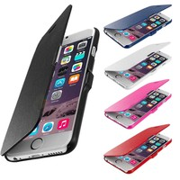 Hard Magnetic Flip Leather Case with Cover For Apple Iphone 6 Plus