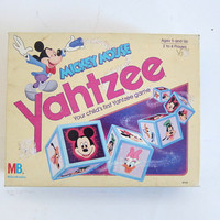 Vintage Mickey Mouse Yahtzee Dice game / Kid's Game night