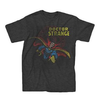 Marvel Comics Dr. Strange Superhero Classic Adult T-Shirt - Heather Black