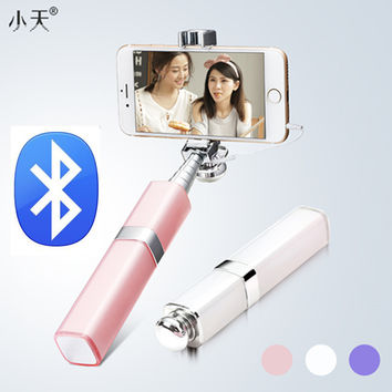 Ulanzi Mini Lipstick Style Selfie Stick Wired/Bluetooth Monopod for iPhone 6/6S Samsung Android IOS smartphones Birthday Gift