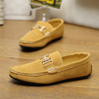 2015 Hot Men Genuine Leather Fashion Sneakers Casual breathable driving Shoes Mens slip-on Flats Doug Loafers moccasin gommino