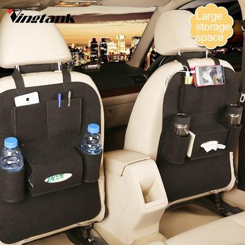Vingtank Auto Car Back Seat Storage bag Car Seat Cover Organizer Holder Bottle tissue box Magazine Cup Food backseat Organizer