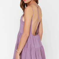 Ruf-filled with Joy Dusty Purple Dress