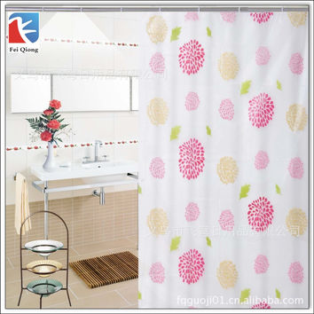 Feiqiong Brand PEVA Bathroom Shower Curtains Water Proof Bath Curtain Sunflower Pattern 180X180CM Europe Modern Type