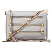 Rebecca Minkoff Mini 5 Zip in Light Gray