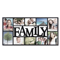 "Furnistar Decorative Black Plastic ""Family"" Wall Hanging Collage Picture Photo Frame PF0460"