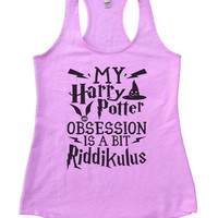 My Harry Potter Obsession Is A Bit Riddikulus Womens Workout Tank Top