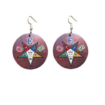 African Natural Wooden Dangle Earring DST SGR OES ZPB