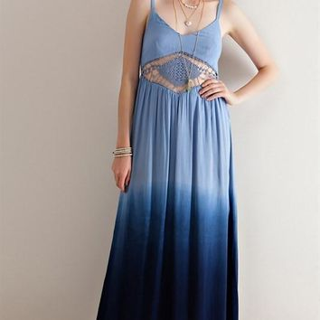 Navy Dip Dye Maxi Dress