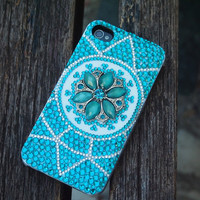 Exotica Gem Flower Rhinestone Handmade Case for iPhone