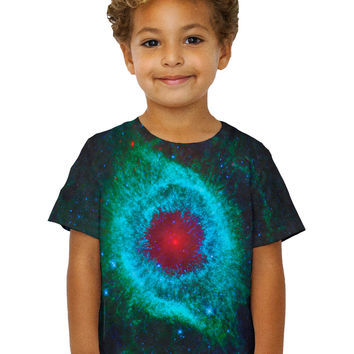 Kids Space Galaxy Helix Nebula Green