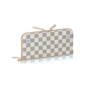 Free shipping-LV Louis Vuitton Classic checkerboard women's long wallet card holder