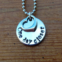 One day closer  Hand Stamped Necklace with by KennabelleDesigns