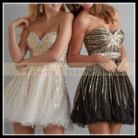 DP61888 2014 gold sequin prom dresses Short Cocktail Dress, $189 + Freeshipping