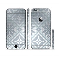 The Knitted Snowflake Fabric Pattern Sectioned Skin Series for the Apple iPhone 6 Plus