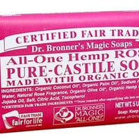 Dr Bronners Magic Soap All One Obro05 5 Oz Rose Dr. Bronner'S Bar Soap