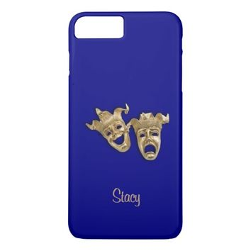 Comedy and Tragedy Unique Theater Monogram Navy iPhone 7 Plus Case