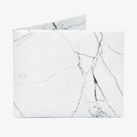 White Marble Bifold Wallet