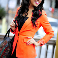 Glow With Me Forever Blazer: Neon Coral | Hope's
