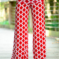 All Of My Love Pants, Red/White