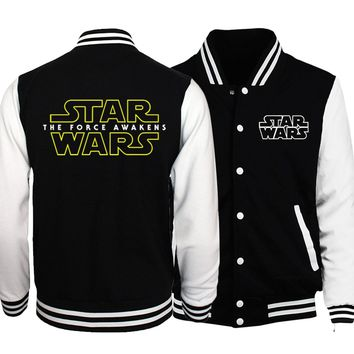 Star Wars Baseball Jacket Men V for Vendetta Jackets 2018 Spring Brands I Solemnly Swear That I Am Up To No Good Coat Sportwear