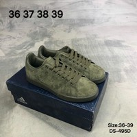 Adidas Original Men Women STAN SMITH W Fashion Casual Skate shoes Green/Brown 2 Colors